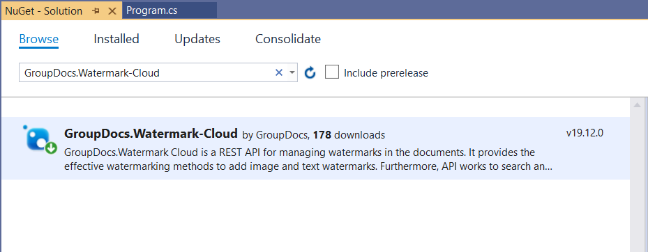 Find and Replace Watermark using a Rest API