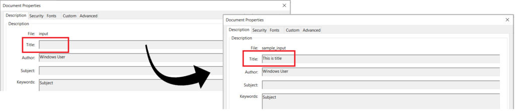Edit Metadata by matching exact property name in PDF Documents using REST API in C#