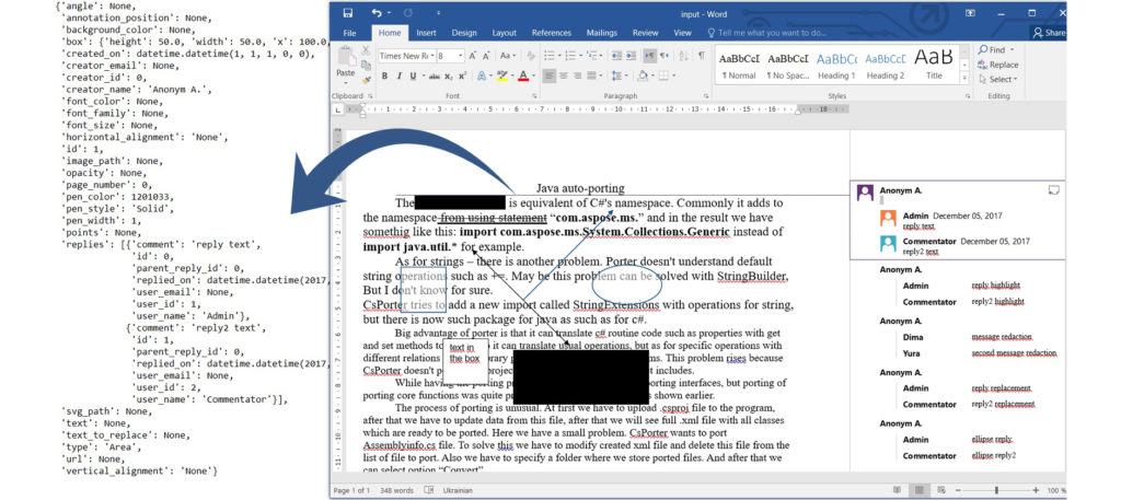 Extract Annotations from DOCX File using Python