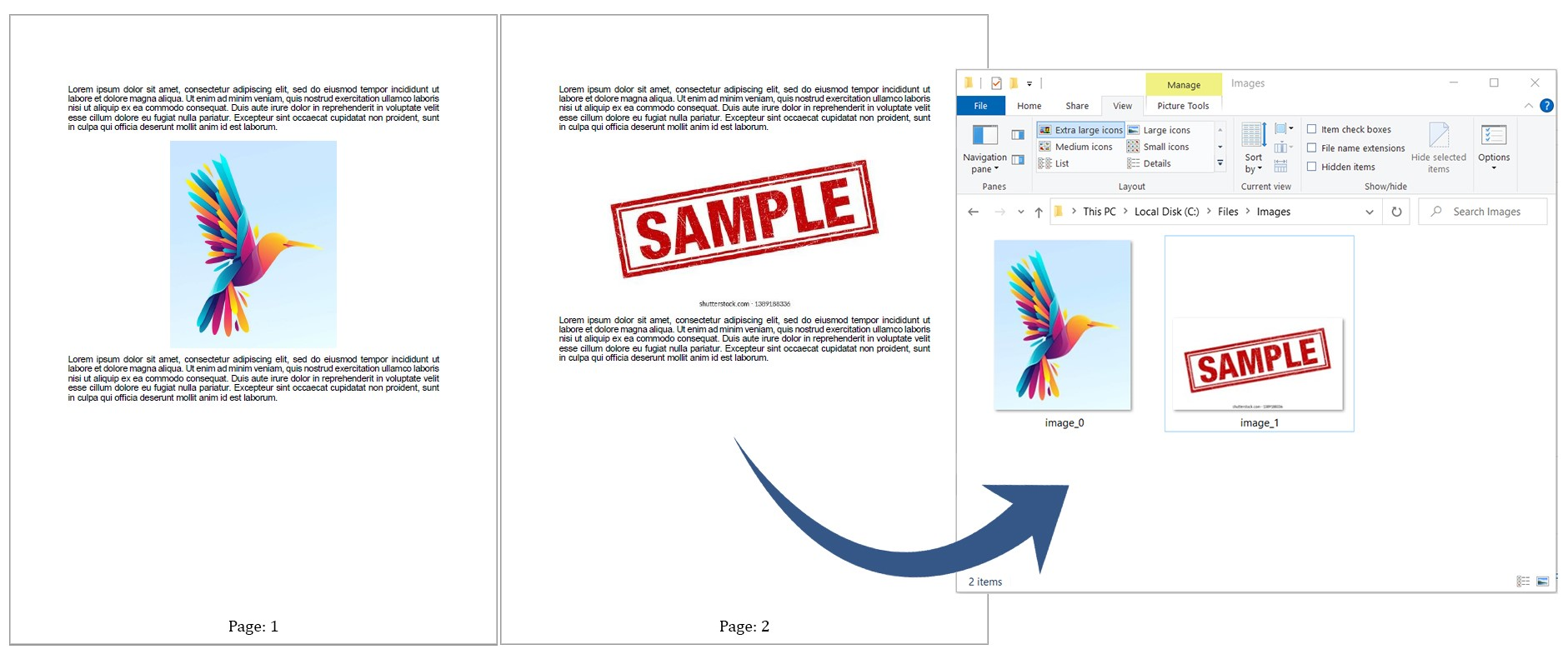 Extract all images from PDF document.
