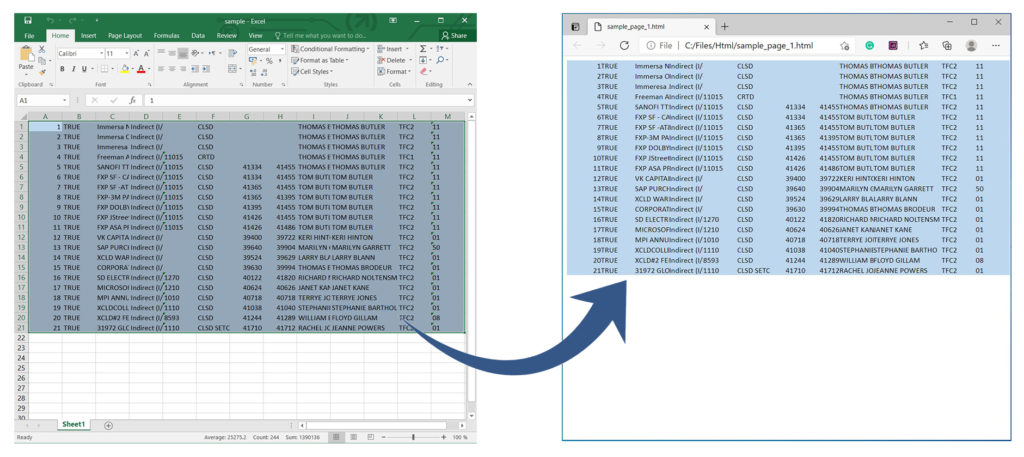 Render Excel to HTML using Python