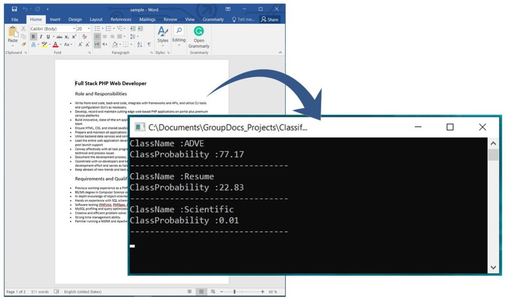Classify Word Documents using a REST API in C#