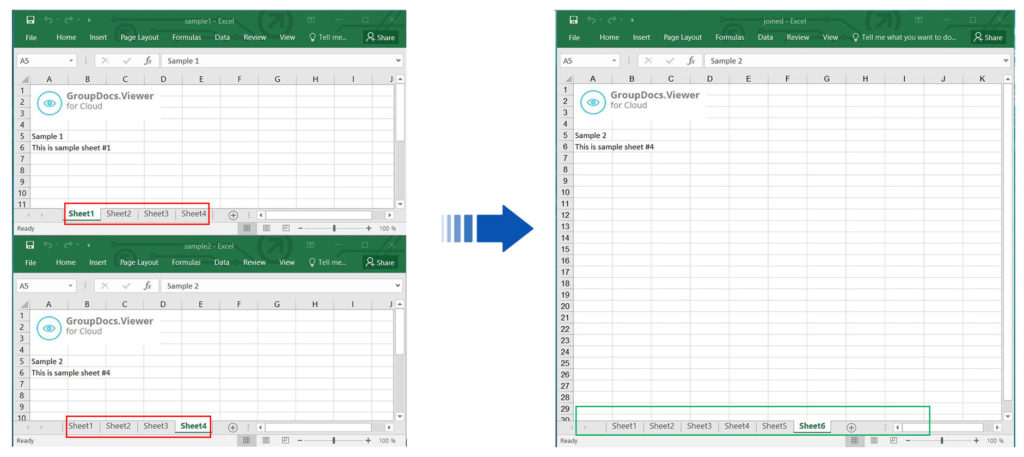 Merge Specific Excel Sheets using a REST API in Node.js
