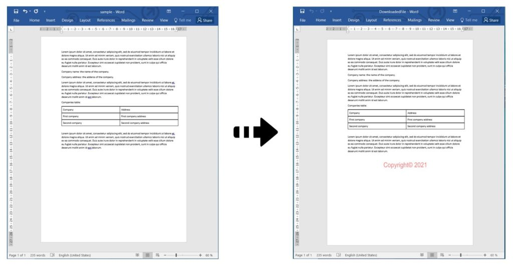 Add Text Watermark to Word Documents using REST API in C#