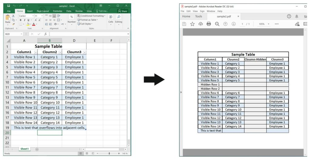 Render Excel to PDF With Rendering Options using Node.js