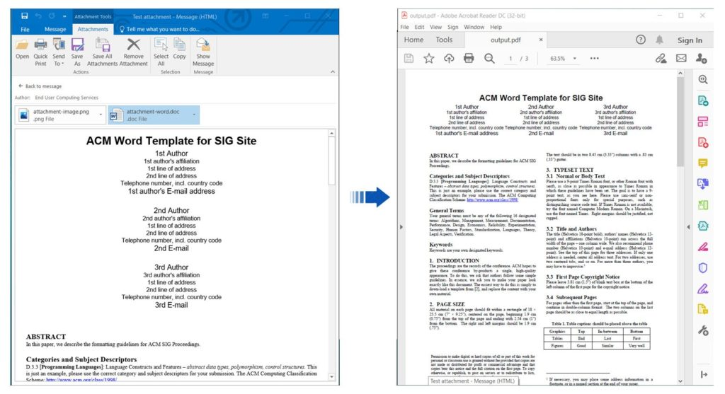Convert Email Attachments to PDF using REST API in Node.js
